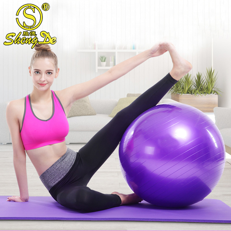ECO- Friendly Anti Burst PVC GYM Fitness Yoga Balls With Foot Pump For Exercises