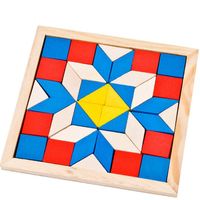 2018 new hot sale colorful Tangram intelligence educational puzzle IQ Game Brain Teaser toy for kids