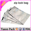 YASON aluminum foil ziplock bags for tea packaging aluminum foil zip lock tea bags ace king strawberry ziplock 1g bags