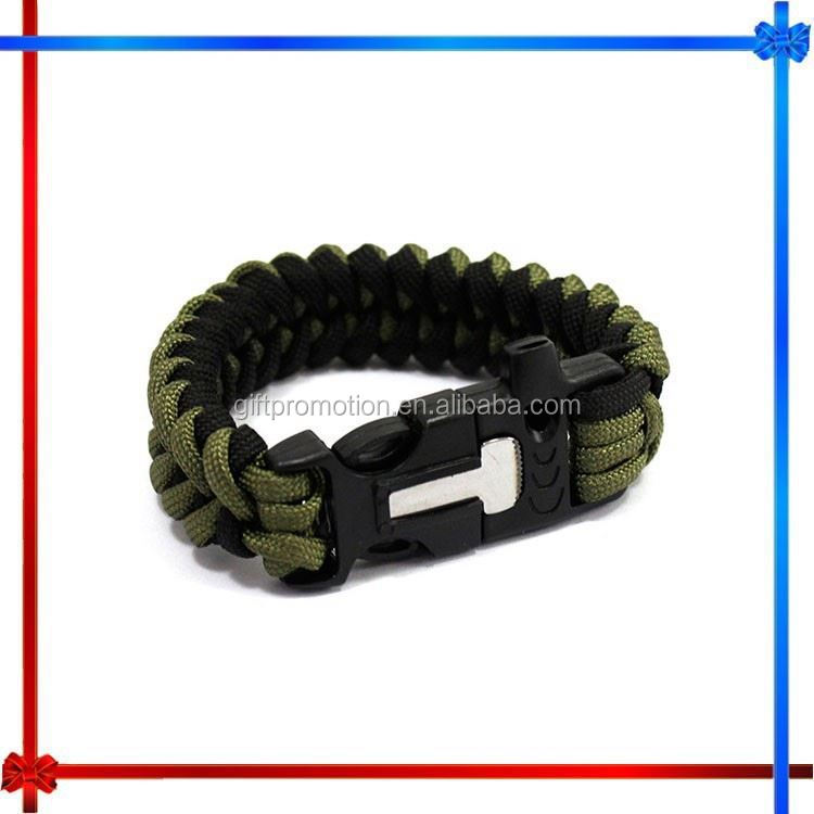 CX46 flint and steel survival bracelet