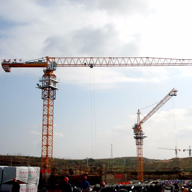 Building Flat-Top Tower Crane With CE ISO Certificate