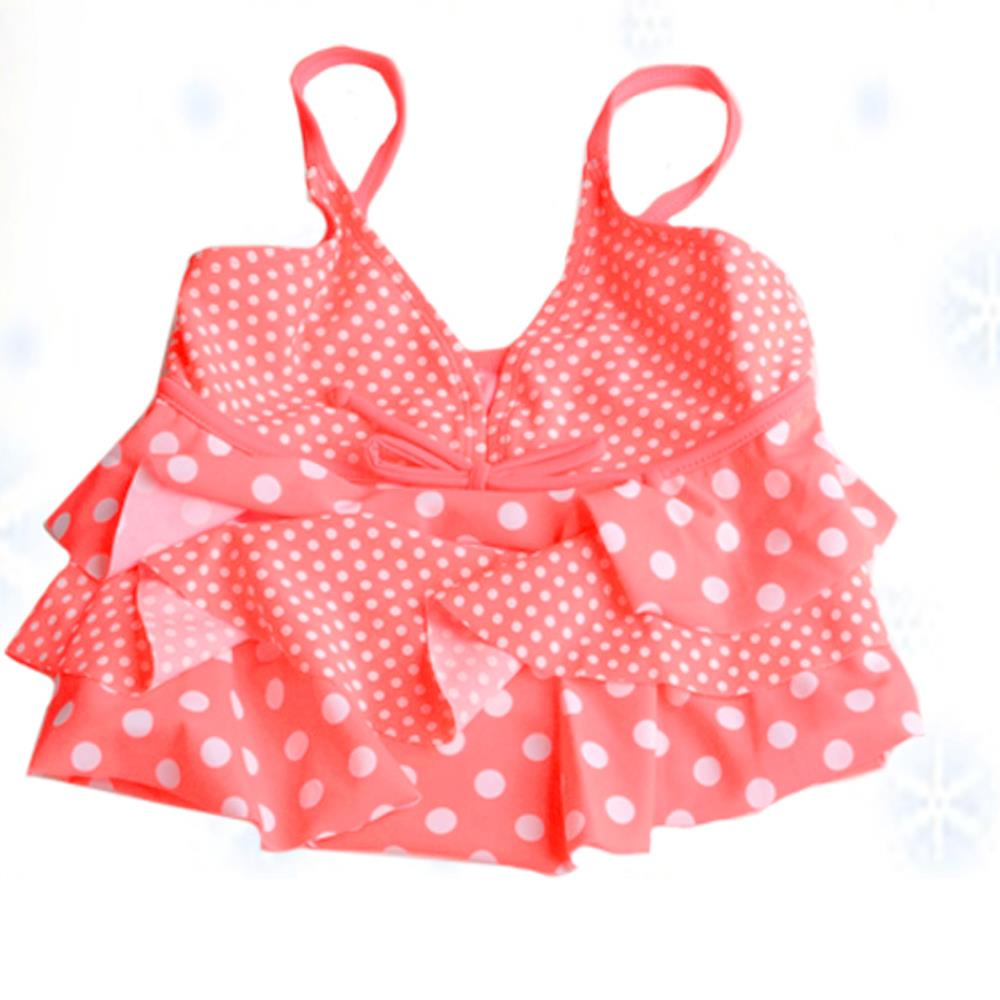 f81787acaa761 Get Quotations · 2015 Girls Swimsuit Two Types Of Sweet Girls Bikini With  White Dots Pattern Kids Bikini With