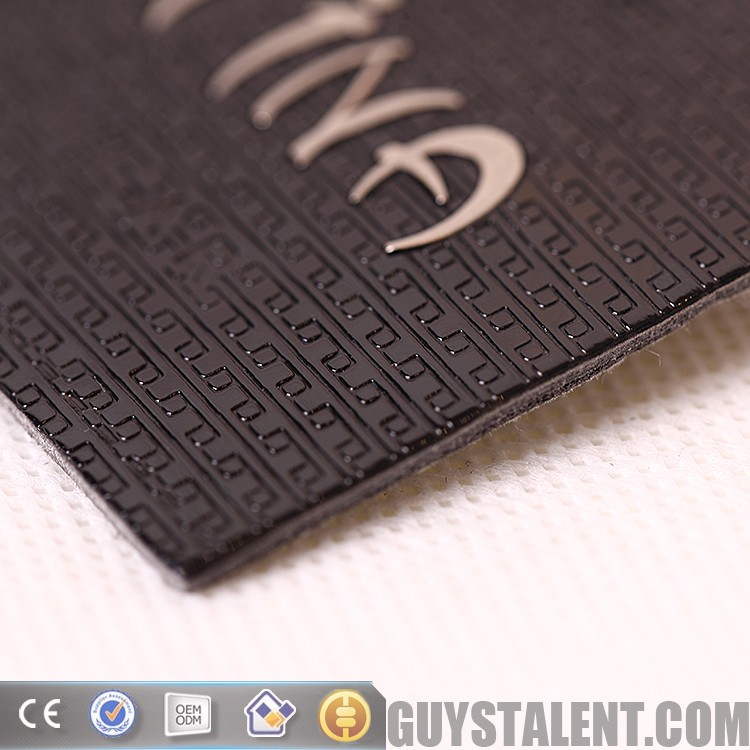 custom private brand name logo metal ware leather patch for jeans