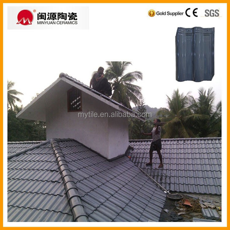 Glossy Grey Ceramic Roof Tile With Cheap Price From China View