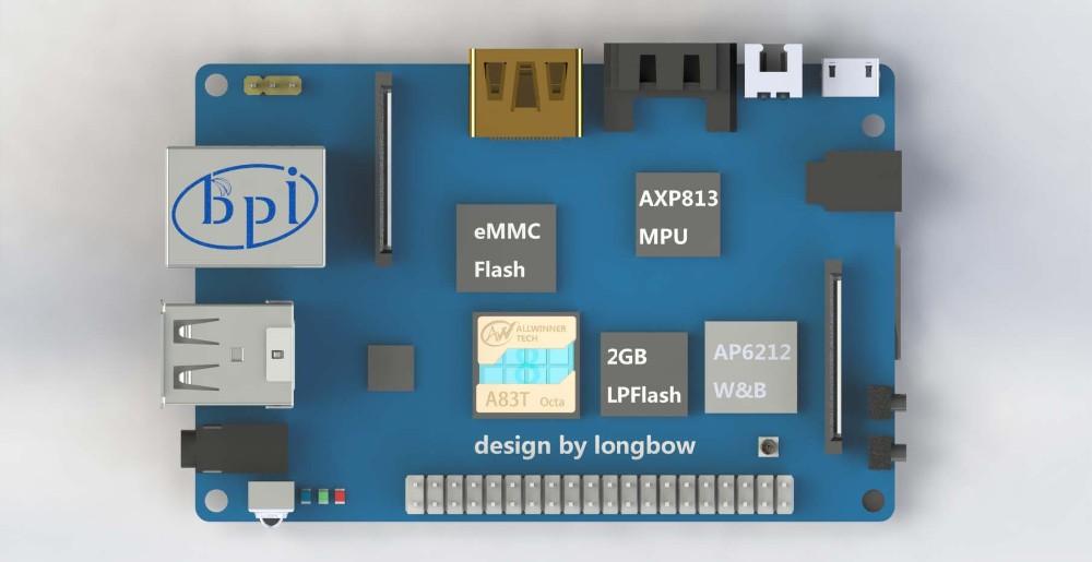Banana Pi M3 VGA Hdmi Converter Raspberry Pi Zero Single Board