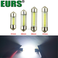 EURS Hotsale COB 1.5W 12V 0.6A 31MM 36MM 39MM 41MM Imported Led Ship Cheap led car over head light