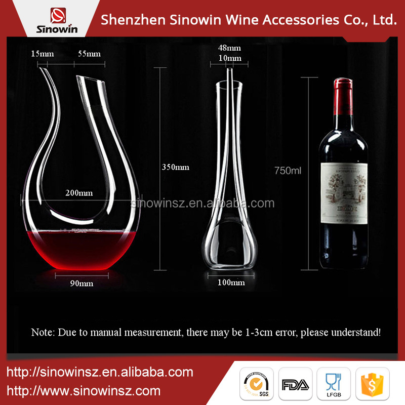 2017 Promational Clear Single Art Wine Glass Decanter Wholesale