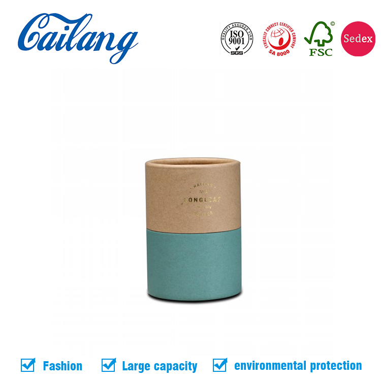 Customized Logo Essential Oil Fragrance Perfume Candle Cylinder Box Paper Packaging