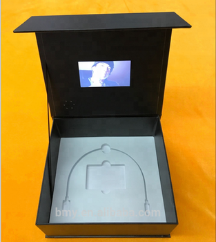 "Popolare custom 2.4 ""~ 10"" tft lcd video brochure box/scheda video/video brochure"