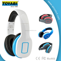 Headset Wireless Foldable Folding Stereo Earphones with Noise Reduction Microphone & Rechargeable Li-ion Battery