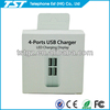4 USB Port Home Charger for Ipad, for Iphone