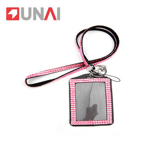Neck retarctable ID card holder lanyard with badge reel