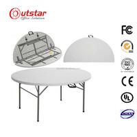 Elegant 5 ft round table low Molding desk Plastic HPDE Folding Round Table
