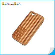 Engrave Flag Logo Wood Phone Case Protective Wood Case For iPhone 6 & 6 plus