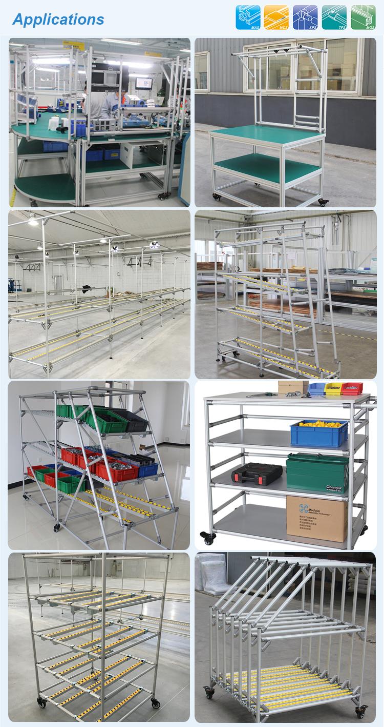 O peso leve de alumínio armazém sistema de cremalheira de tubulação/tubo de armazenamento estantes sistemas