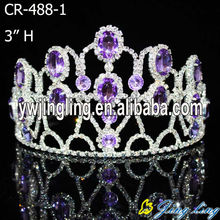 hot sale beauty custom ruby tiara pageant crowns