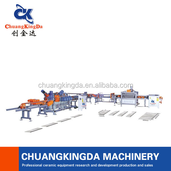 Automatic Straight Cut Stair Step Tiles Cutting Polishing Machine Production Line