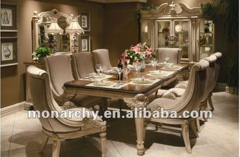 D0055 42 High Quality Solid Wood Hand Carving 8 Seater Dining