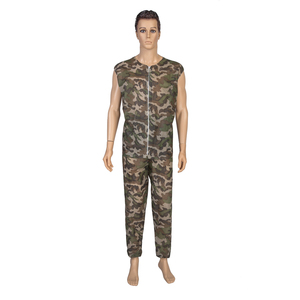 Disposable short sleeve camouflage coverall/Paintball/military coverall