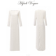 Muslim women dress pictures with slit split and invisible zip back design beautiful white abaya muslim dress