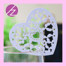 Laser cut heart card for wine glass place card JK02 Haoze brand
