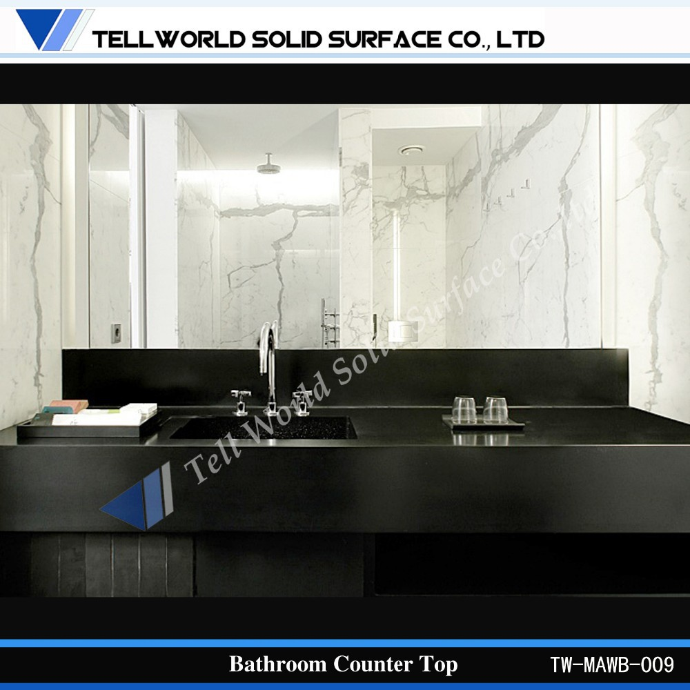 Blanc kitchen furniture made from dupont dorian in corian counter top