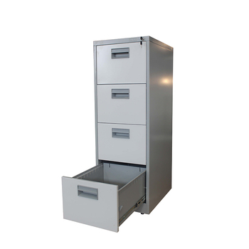 Knock Down 4 Drawers Stainless Filing Cabinet White Drawer File Cabinets