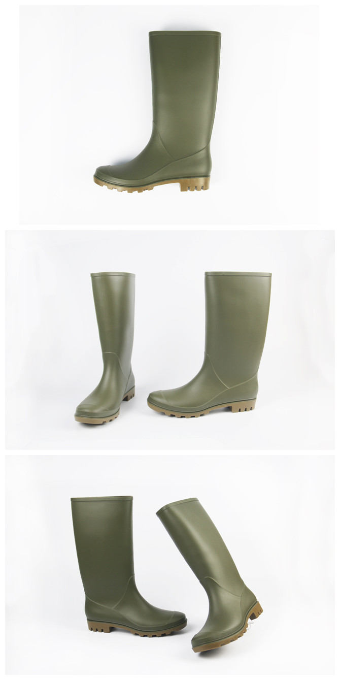 work style water proof anti slip ladies pvc boots rain cover