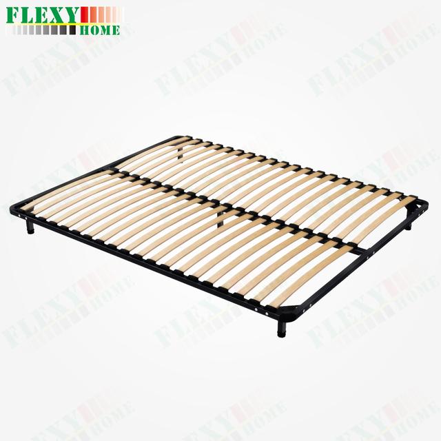 slat bed base mattress support frame metal bed base
