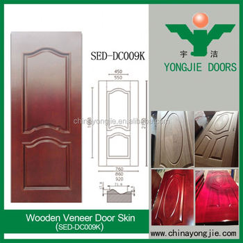 Mdf Panel Fiber Board Wood Veneer Door Skin For Interior Door Buy