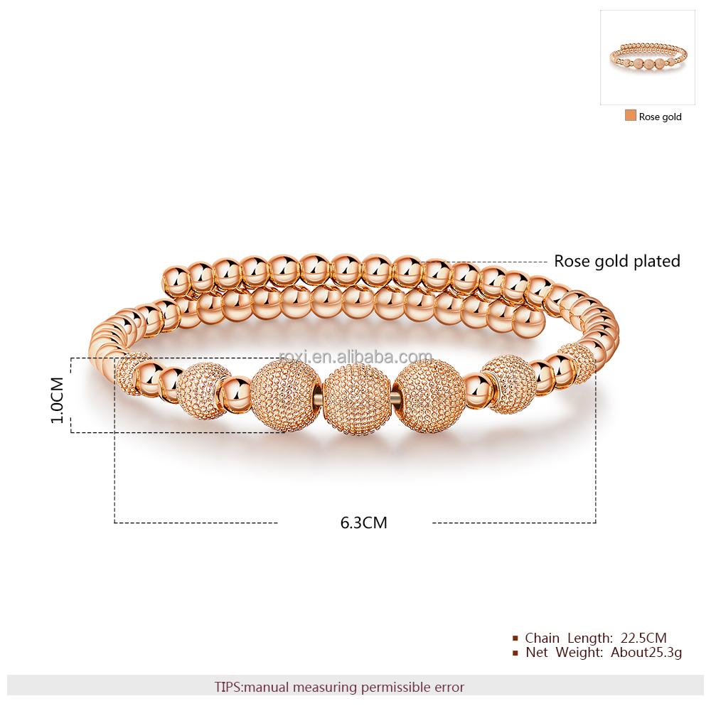 4f48e964ec7c George Smith moda joyería oro rosa brazaletes de perlas elegante negro mujeres  pulsera