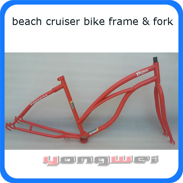 beach cruiser bike frame and fork