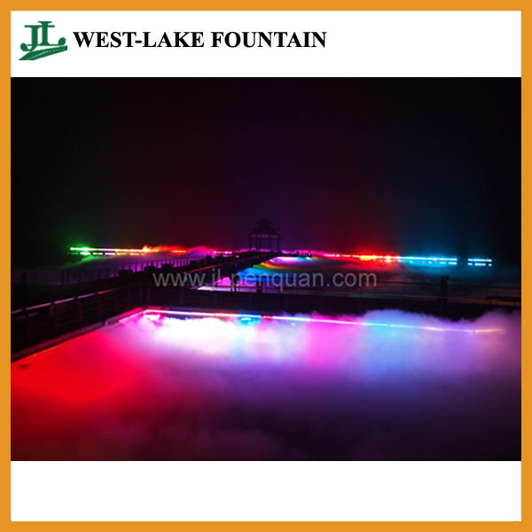 Landscape Mist by Lighting Rendering in Large Lake Fountain Project