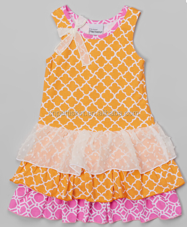 f9232920d Toddle Clothes Dress Cutting And Sewing Dress Chevron Summer Frock ...