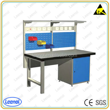 Industrial Workbench Mechanics Work Bench Electronic Work Table With Rack