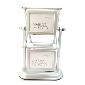 High quality Metal aluminum spinning revolving ratating picture photo frame