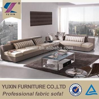 L Shape Modern Design Fabric Corner Sofa/big Size Armless Sofa ...