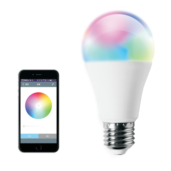 Smart 7w LED RGBW Multicolored Bulb Bluetooth mesh wireless control