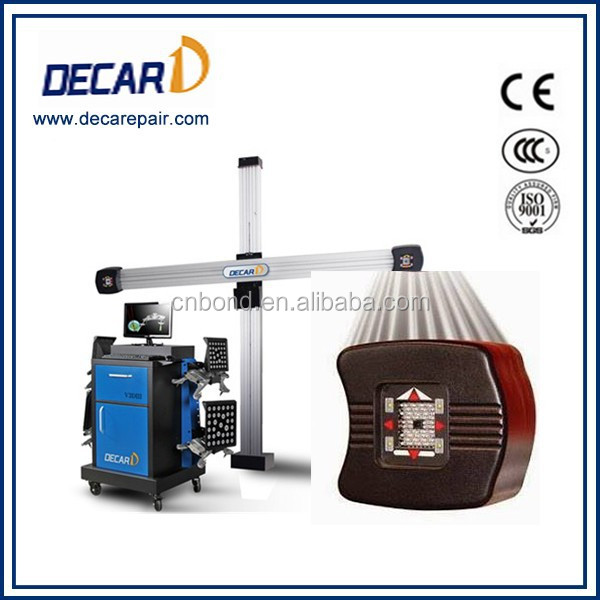 High accuracy laser shaft alignment for car workshop