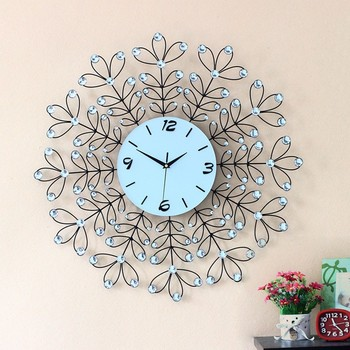 Home Goods Wall Clocks 2015 new home goods gifts living room metal wire art diamond leaf