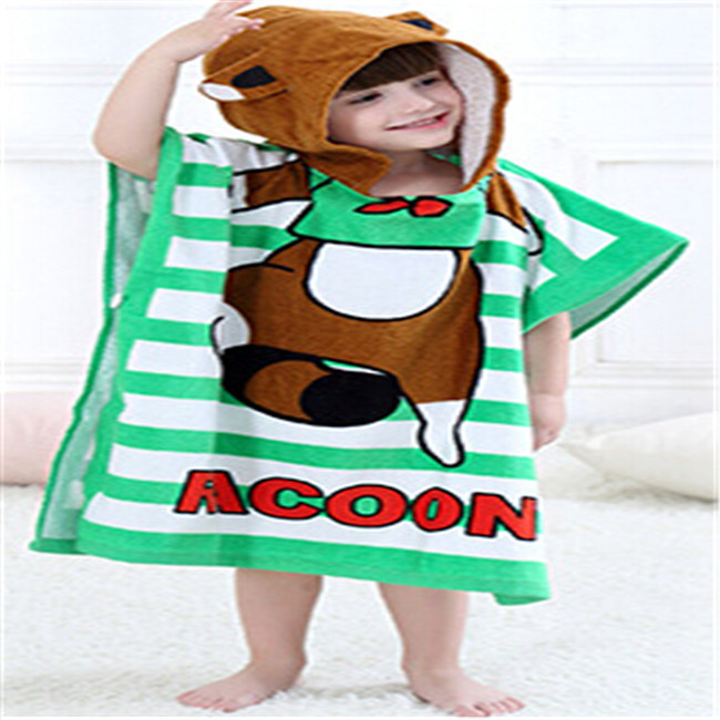 Baby Towel infant cotton hooded bath towel children toddler bath kids cartoon hooded bathrobe baby