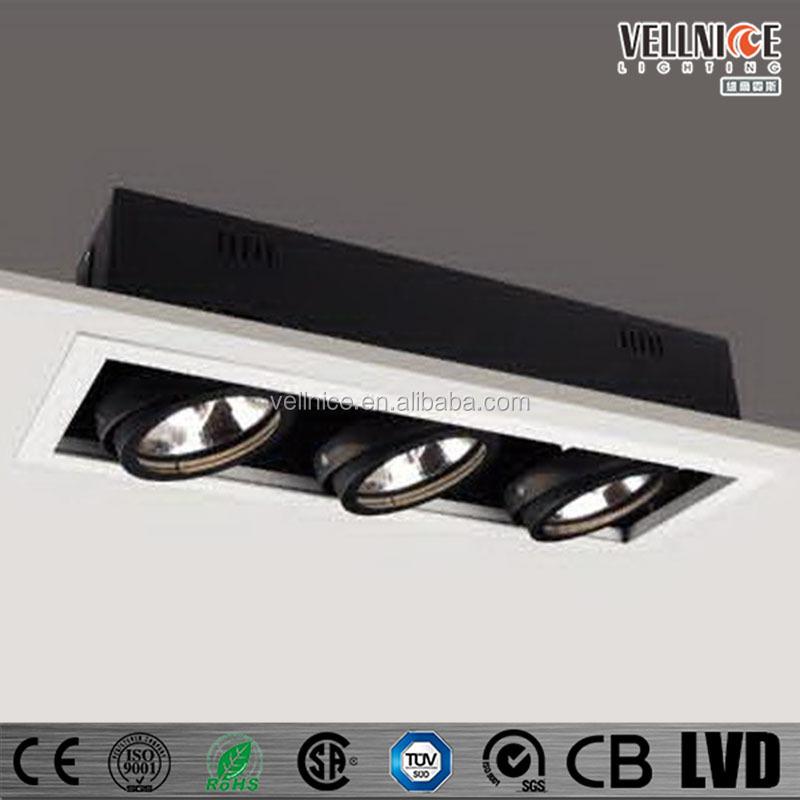 Multiple Trim Ar111 3x50w Tripple Recessed Ceiling Downlight - Buy ...