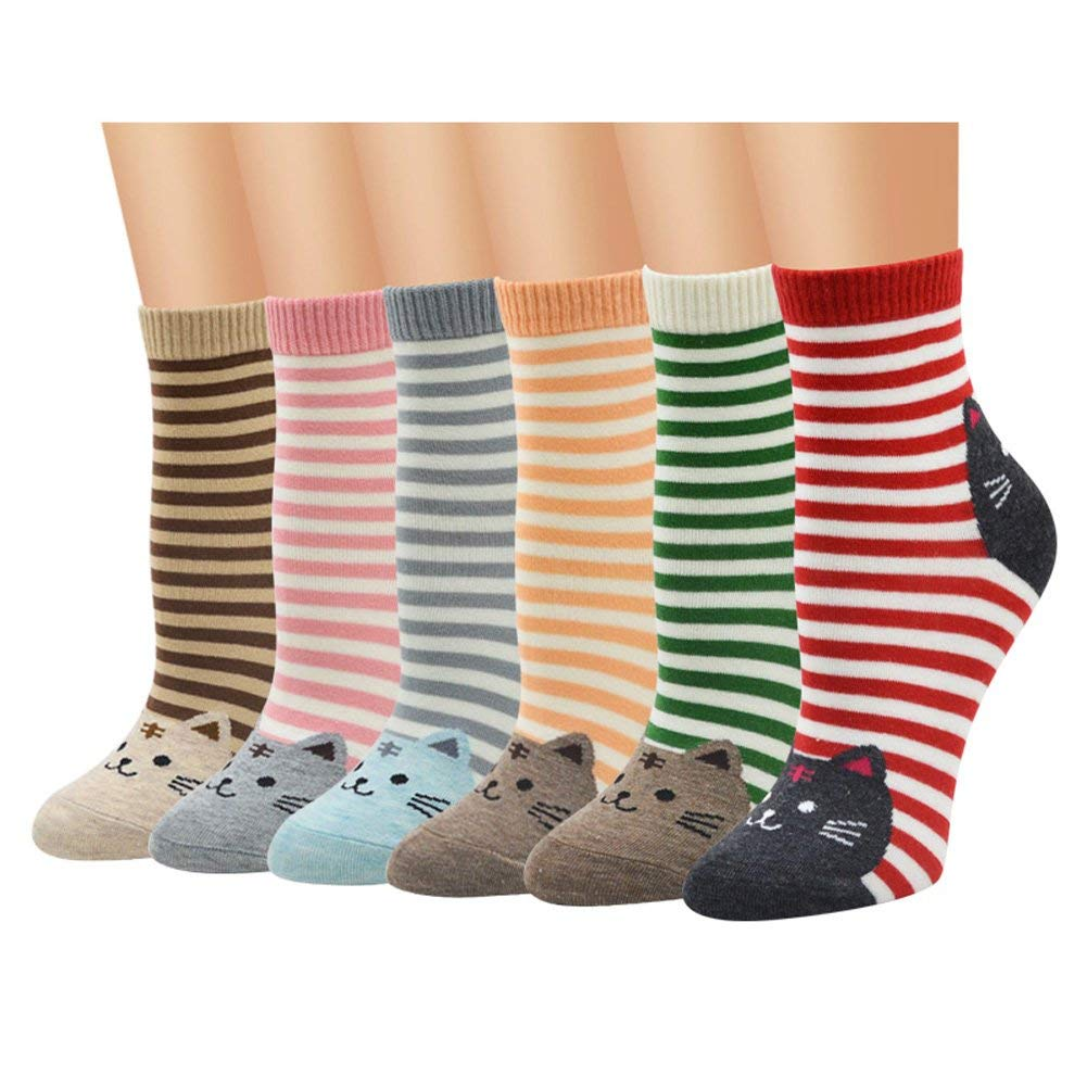 dc30696e66399 Get Quotations · Big Girls Cute Animal Socks Colorful Funny Casual Cotton  Crew Socks