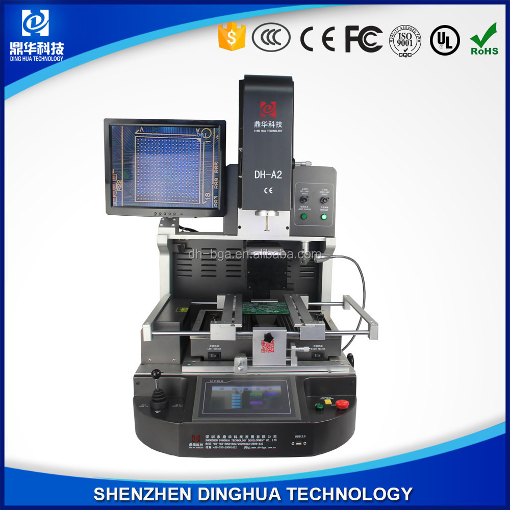 DINGHUA DH-A2 semi-auto+laser smt micro soldering station machine for repair bga chips/ motherboards