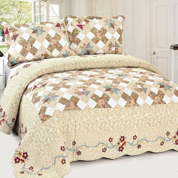 ay 319 high quality of super soft quilted stain knitted bedspreads