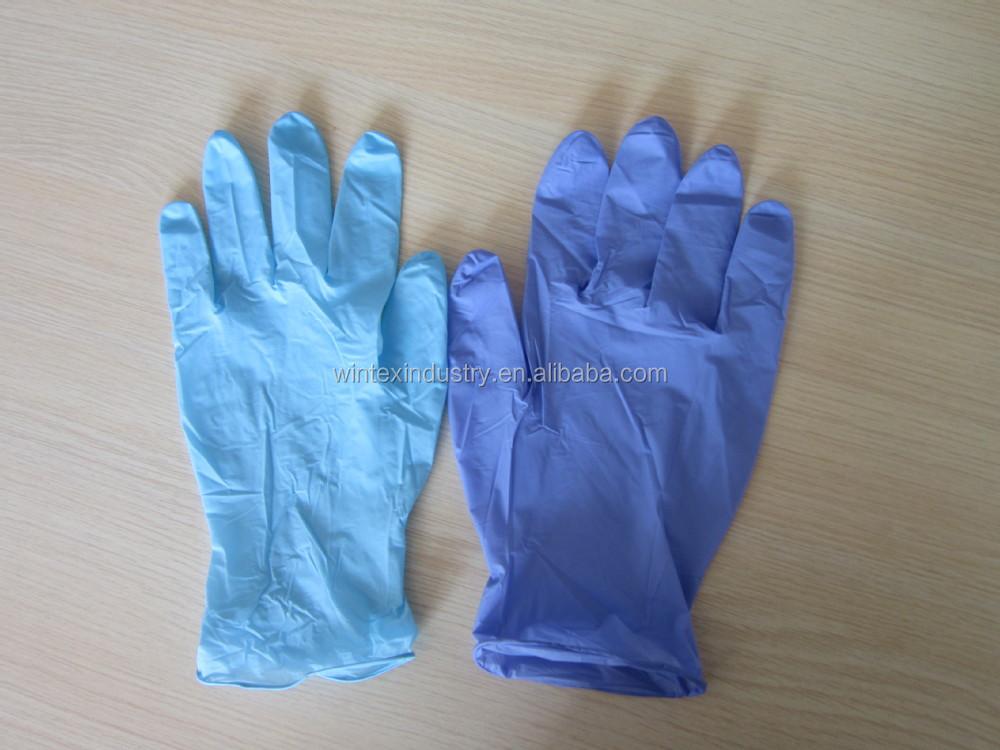 Disposable Blue Nitrile Gloves Logo Printed,Nitrile Glove Nursing ...