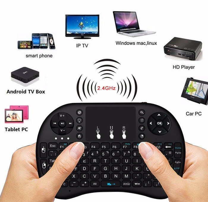 Mini Tastiera Senza Fili i8 2.4 GHz lettere Russe Air Mouse Telecomando Touchpad Per Android TV Box Tablet Pc Notebook