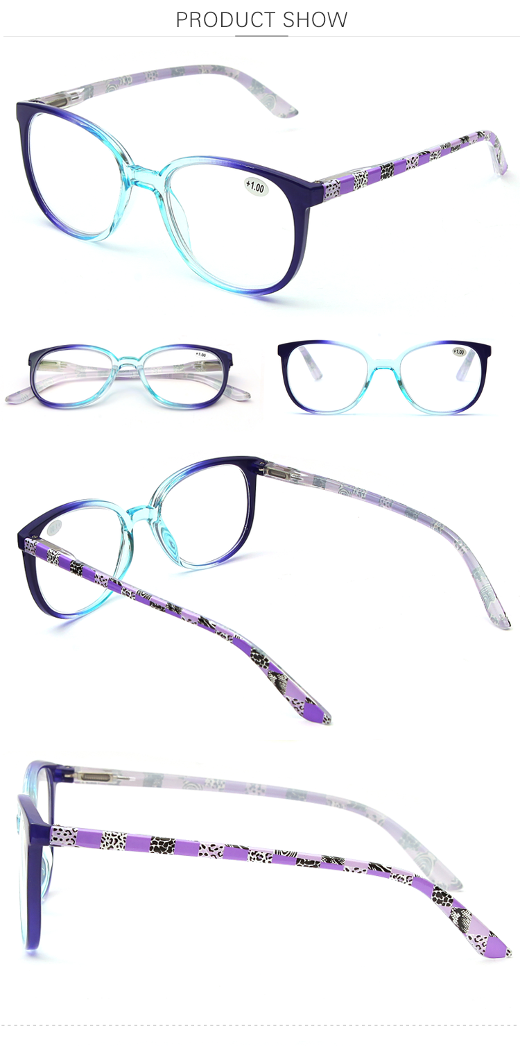 Women Goggles Reading Glasses Hot Sale Popular PC Material Purple Translucent Eyewear