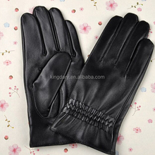 2016 New Style Classic Black Dress Ladies' Lambskin Leather Gloves