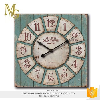 Customized Different Shape Numeral Square Kitchen Wall Clock Home Decorative